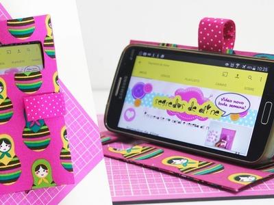 Capinha de Celular feita com Caixa de Leite #3-  DIY - Segredos de Aline