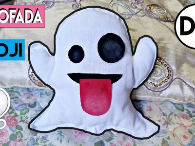 DIY: Almofada Emoji Fantasma - Room Decor