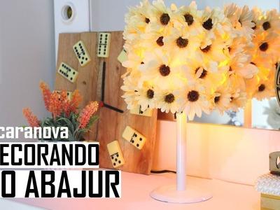 DIY: #caranova CUSTOMIZANDO O ABAJUR SEM GRAÇA GASTANDO POUCO! - Por Lorena Lima