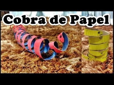 DIY - COBRA COM ROLO DE PAPELÃO (GRANDE E PEQUENA)