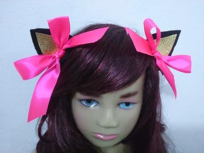 DIY como fazer orelhas de gato para fantasia, cosplay