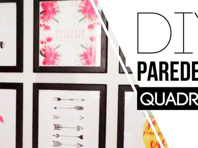 DIY - Como fazer uma parede de Quadros | Carol Ramos