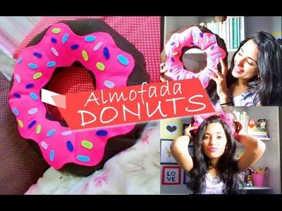 Diy Decoração - Almofada Rosquinha. Donuts (Como Fazer) | Diy Nathy Araujo