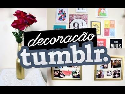 DIY: DECORAÇÃO TUMBLR GASTANDO POUCO ft. Léo Borges
