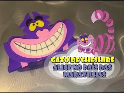 DIY.: Estojo Gato de Cheshire - Alice no País das Maravilhas