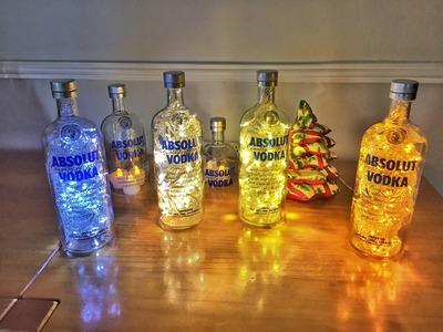 Monte sua Luminária de garrafa em casa | Bottle Desk Lamp | D.I.Y. - SK