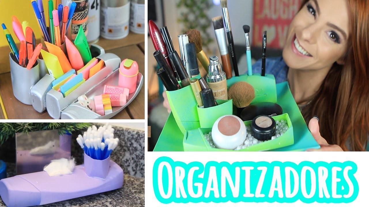 DIY :: 3 DICAS Organizadores com Tubos de Shampoo