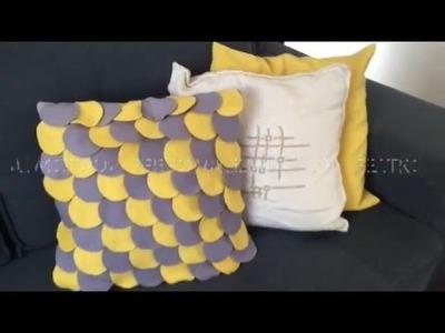 DIY - Capa almofada com feltro