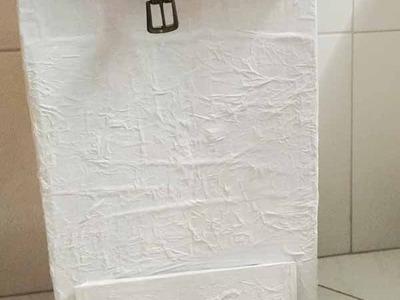 DIY Cesto para roupas sujas ✂️ Artesanato