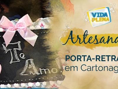 Artesanato | Porta retrato - Porta chaves em Cartonagem