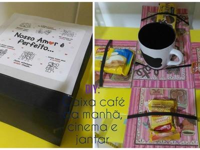 Diy: caixa café da manhã, cinema ou jantar