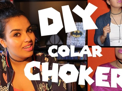 DIY | COLAR CHOKER | Gabrielli Alves