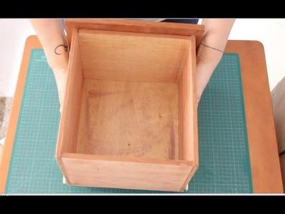 DIY Divisórias para gaveta passo-a-passo ✂️ Artesanato