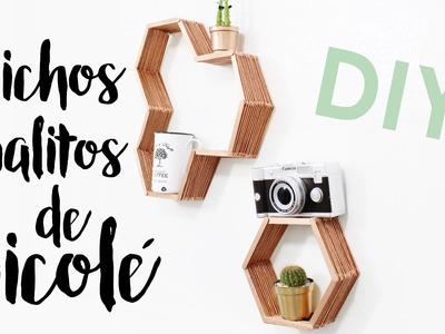 DIY Nichos com Palitos de Picolé | Pinterest Inspired