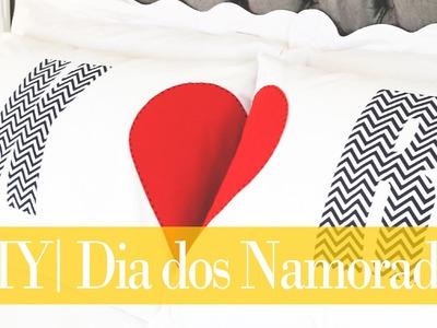 DIY | Travesseiros Personalizados para Casal | Dia dos Namorados | Do  Sofá