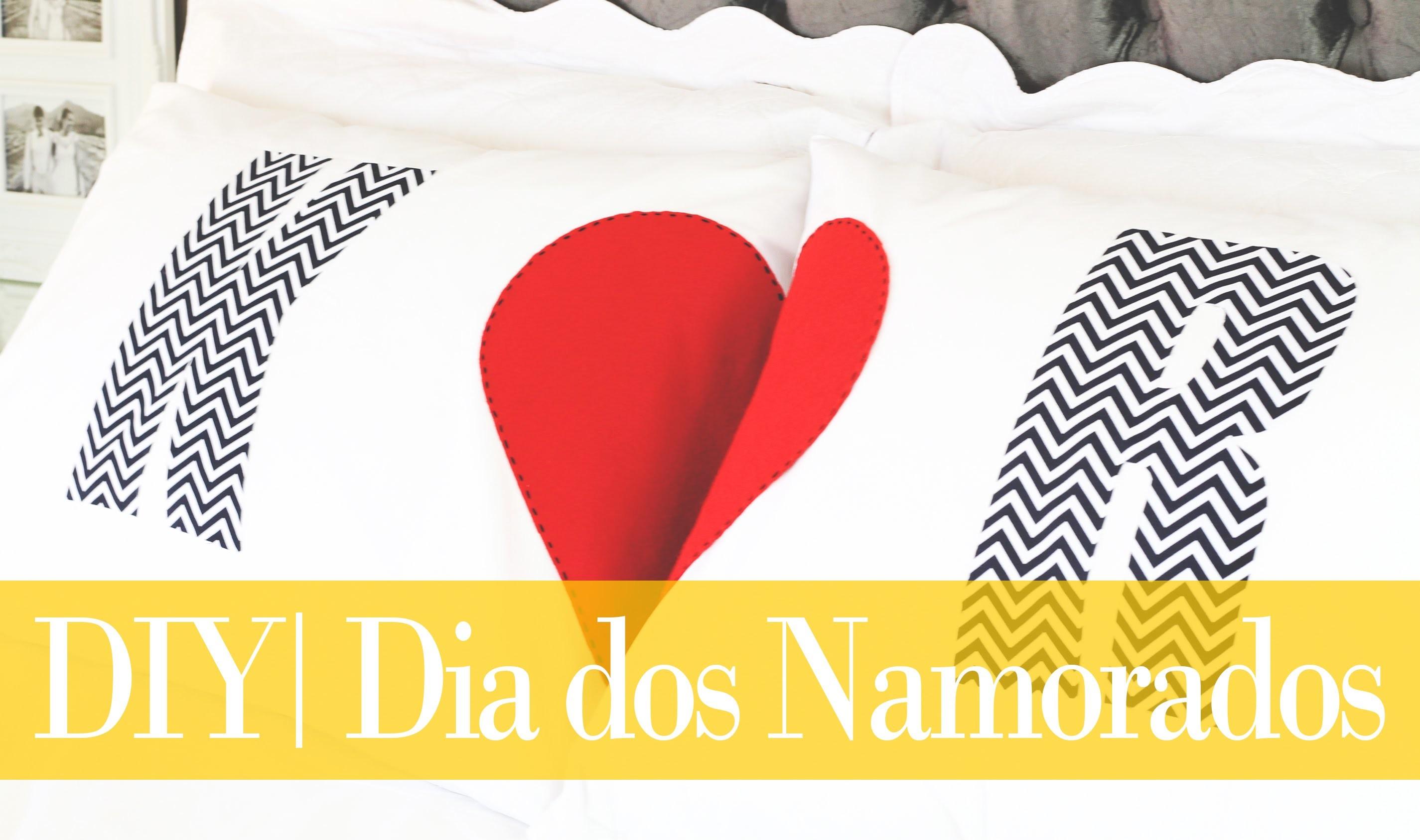DIY   Travesseiros Personalizados para Casal   Dia dos Namorados   Do  Sofá