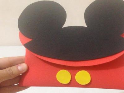 Estojo do Mickey Mouse de Papel EVA - DIY Passo a Passo Artesanato