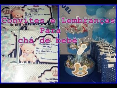 DIY: Convites para chá de bebê,dicas de lembrancinhas
