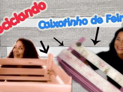 DIY - Do Lixo ao Luxo - Transformar Caixote de Feira em utensílio para casa - Porta Revista