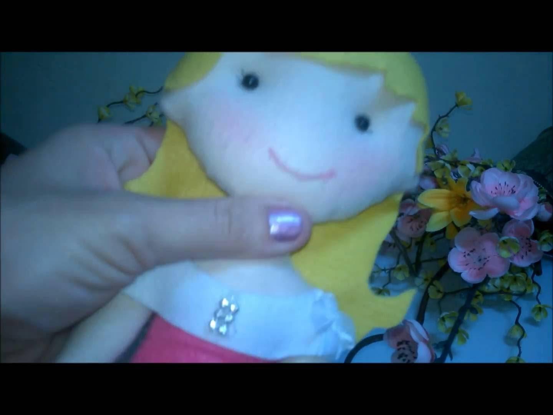 Diy - Feltro Blush em bonecas de feltro e pano da maneira correta MANUALIDADE