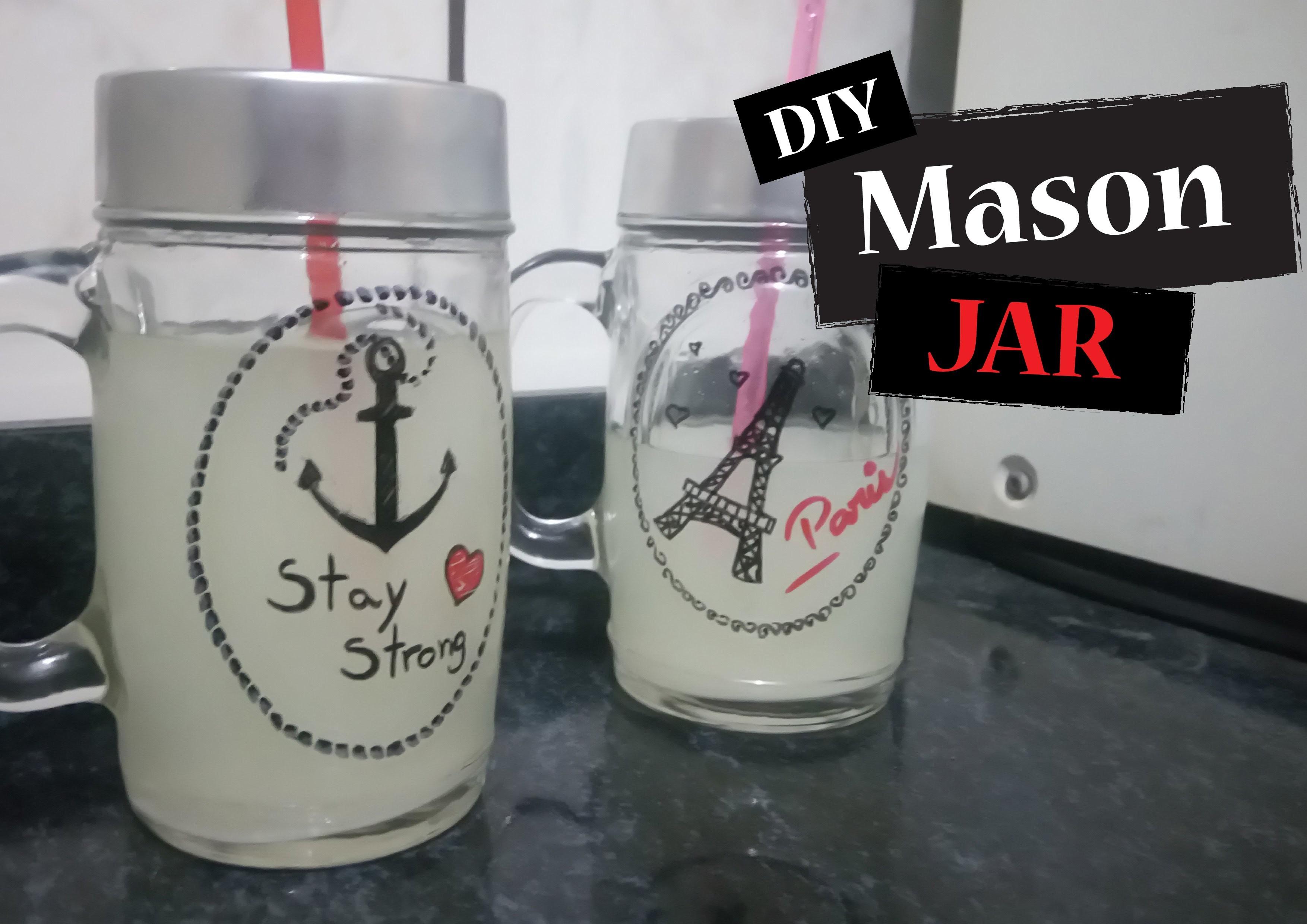 DIY: Mason Jar (Copo.Jarra com canudo)