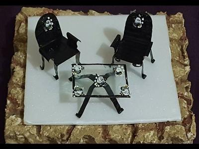 DIY.mesa e cadeiras para mini jardim, reciclagem(mesa y sillas para mini jardin, reciclaje)
