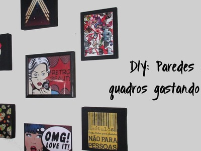 DIY: Quadros usando caixa, capa de caderno e tela de pintura