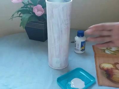 DIY##Reciclando. Transformando um pote de batata chips em um porta macarrão