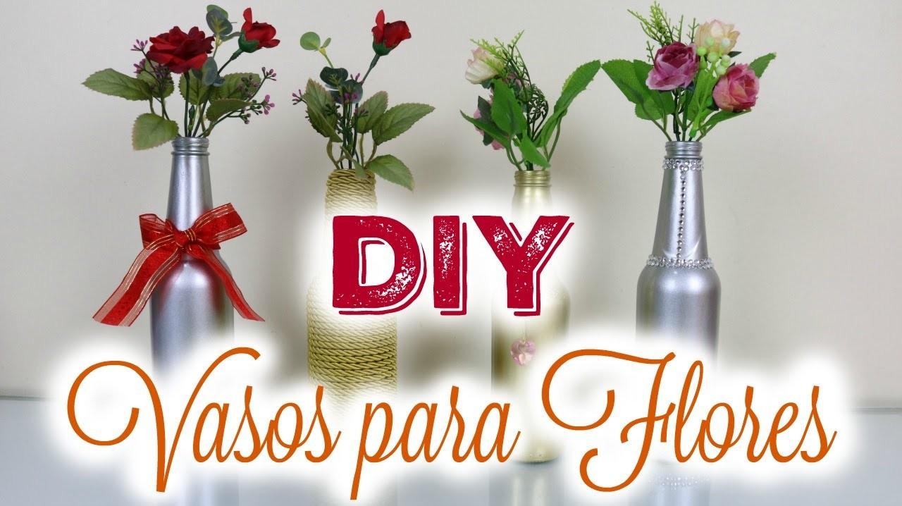 DIY Vaso de Flores | Reciclando Garrafa de cerveja | Por Glaucia Sioli