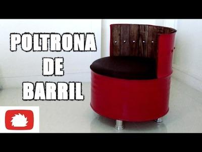 Como fazer Poltrona de barril - DIY | Na oficina - S02E25