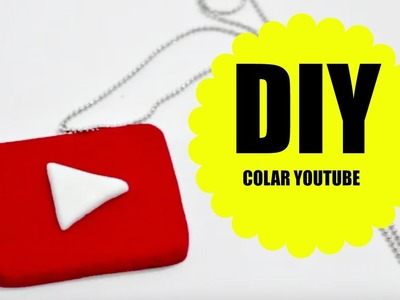 DIY- Colar botão do  YOUTUBE - Biscuit - Polymer clay - Necklace