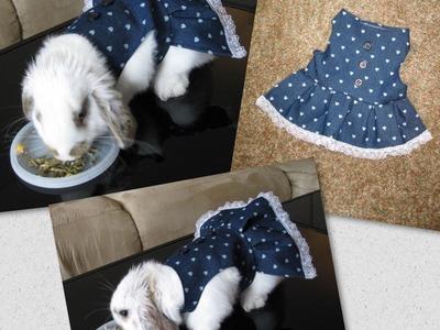 DIY Faça você mesma um vestido para sua cachorrinha, coelha, gata etc. By Customização & Cia