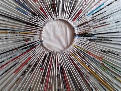 DIY-Mandala de folhas de revistas-Parte I