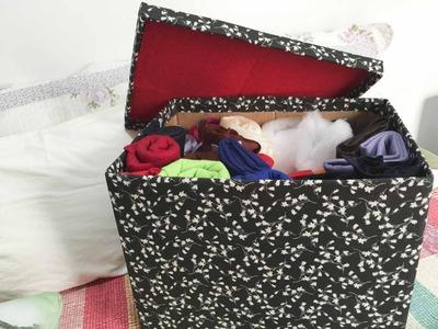 DIY Passo a passo caixa organizadora ✂️ Artesanato