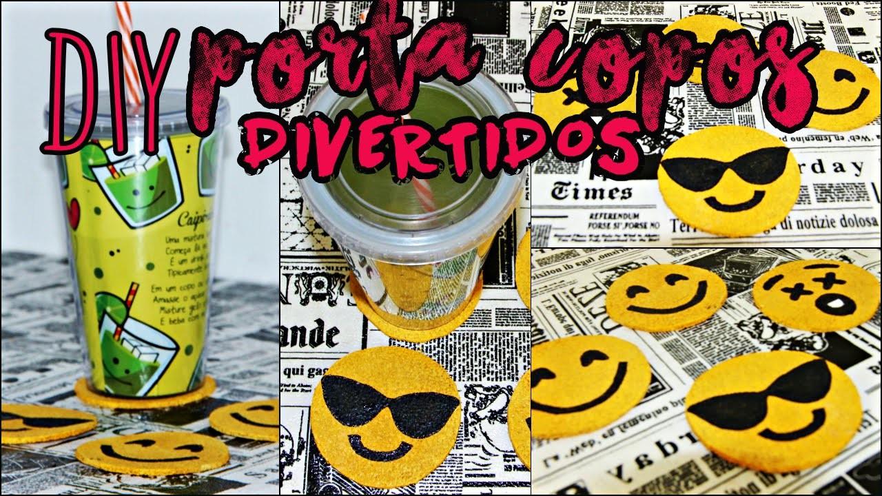 DiY:  Porta copo de emoji |DiY EXPRESS