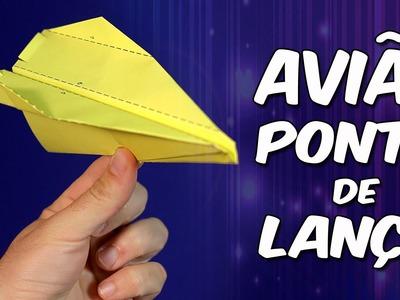 Espetacular avião Ponta de Lança: você nunca voou tão alto! - origami.dobradura