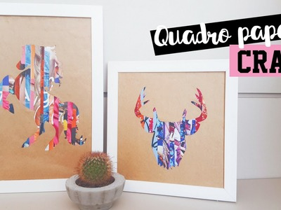 DIY- QUADROS COM PAPEL CRAFT - PINTEREST INSPIRED