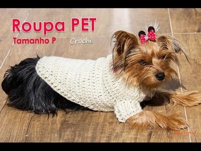 Roupa PET de Crochê | Tamanho P | Parte 2 | Professora Simone