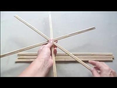 Tipos de varetas para tecer mandalas com linhas e onde comprar.