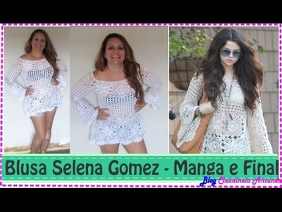 Blusa em Croché Selena Gomez - Aula 6 - Manga e finalização