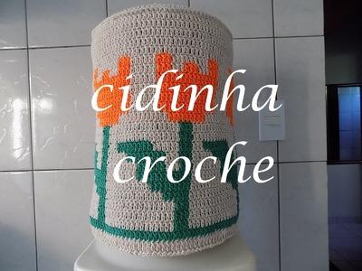 Croche- Capa Para Galão De Agua Tulipas 20 Litros- Passo A Passo- Parte 1.2