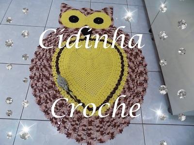 Croche- Tapete Coruja -(Gigante)1,42 x 1,13- Passo A Passo- Parte 1. 3