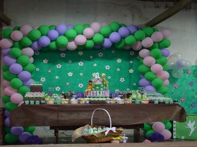 Decoração festa Tinker Bell. Fadas - fácil e barata DIY | Sayury Mendes