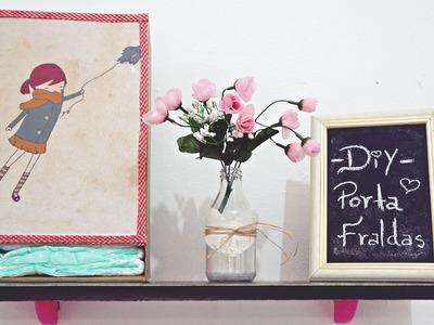 DIY Porta fraldas com caixa de sapato