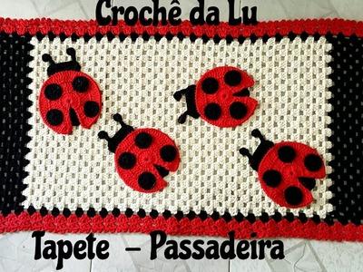 Tapete - Passadeira em crochê Joaninha - Jogo de Cozinha
