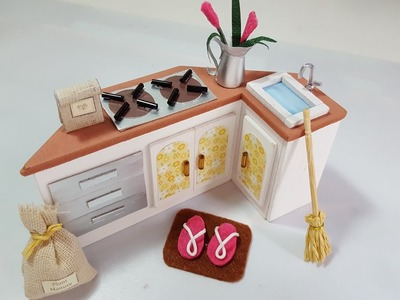 #3 DIY Miniature Dollhouse-Kitchen Stand-DIY Miniatura de Casinha de Boneca