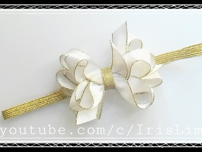 Como Fazer Laço Boutique Triplo Com Ponta Diy ,Tutorial ,Pap By Iris Lima How To Make a Hair Bow
