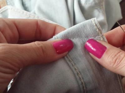 Como fazer pences sem máquina de costura - DIY -  Costura à mão