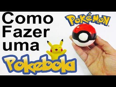 Como fazer uma Pokebola com Bexigas - Pokemon GO DIY