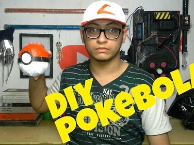 DIY-como fazer uma pokebola de papelão pokémon go